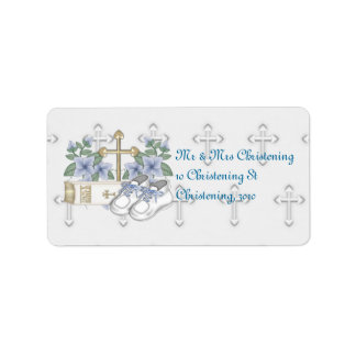 Boys Christening Shoes Label