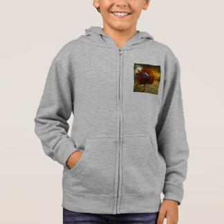 Boy's coat with to car design stuck in tree hoodie
