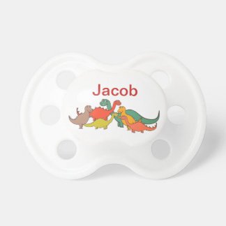 Boys Colorful Dino Cartoon Dinosaurs lizard Pacifier