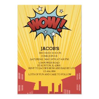 Boys Comic Book Birthday Invitation. Card