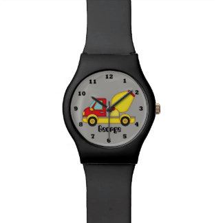 Boys Construction cement mixer add namewatch Watch