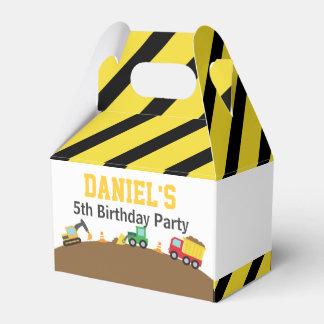 Boys Construction Vehicles Theme Birthday Party Wedding Favor Box