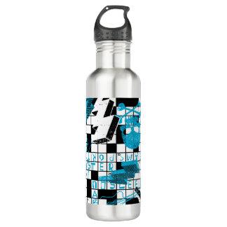 Boy's crossword puzzle 710 ml water bottle