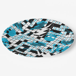 Boy's crossword puzzle 9 inch paper plate