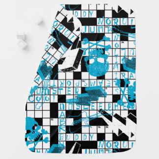 Boy's crossword puzzle baby blanket