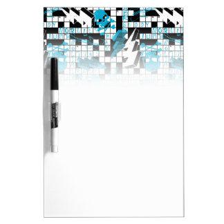 Boy's crossword puzzle dry erase board
