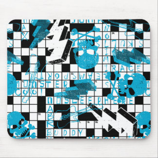 Boy's crossword puzzle mouse pad
