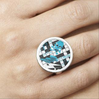 Boy's crossword puzzle ring