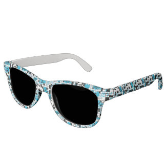 Boy's crossword puzzle sunglasses