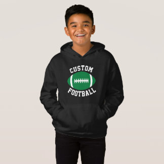 Boy's Custom Green and Black Football Sweatshirt