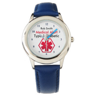 Boys Diabetes Medical Alert Type 1 or 2 Watch