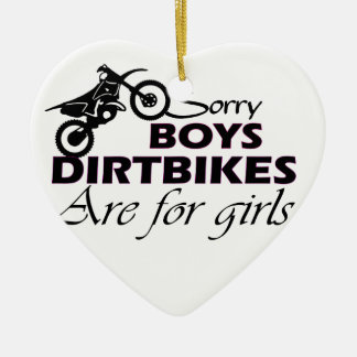 boy's dirt bikes are for girls ceramic ornament