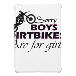 boy's dirt bikes are for girls iPad mini cases