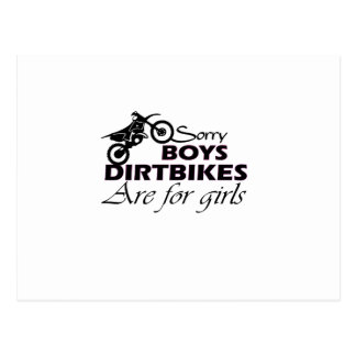 boy's dirt bikes are for girls postcard