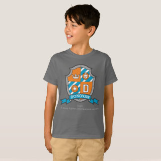 Boys Donovan name & meaning knights shield T-Shirt
