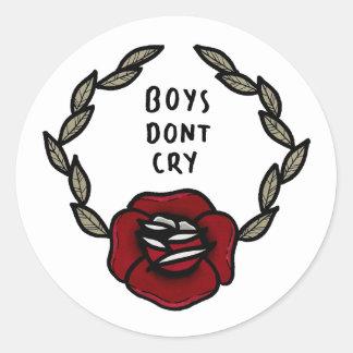 'Boys Dont Cry' Stickers. Round Sticker