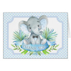 Boys Elephant Baby Shower Thank You Cards