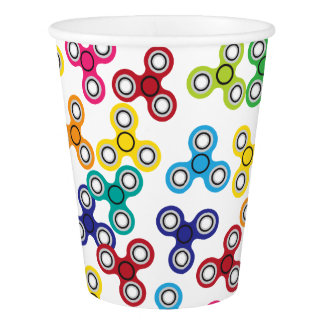 Boy's Fidget Spinner Birthday Party Paper Cup
