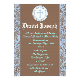 Boys First Holy Communion Invitations