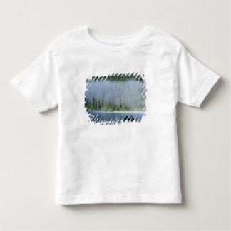 Boys fishing on Waterfowl Lake, Banff National T Shirts
