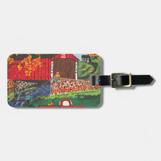 Boys Fishing Under The Covered Bridge Luggage Tag