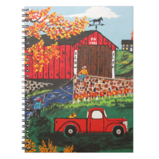 Boys Fishing Under The Covered Bridge Notebook