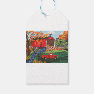 Boys Fishing Under The Covered Bridge Pack Of Gift Tags