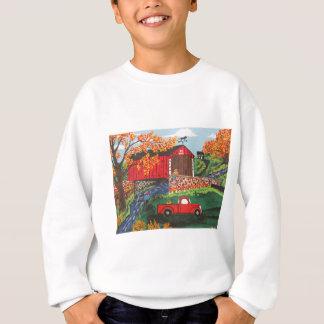 Boys Fishing Under The Covered Bridge Sweatshirt