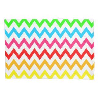 Boys Girls Bright Colorful Chevron Rainbow Pillowcase