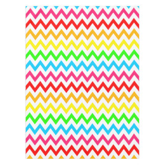 Boys Girls Bright Colorful Chevron Rainbow Tablecloth