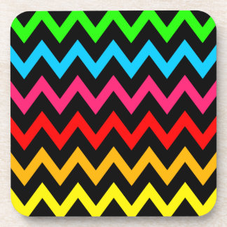 Boys Girls Home Decor Colorful Neon Rainbow Beverage Coasters
