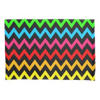Boys Girls Home Decor Colorful Neon Rainbow Pillowcase