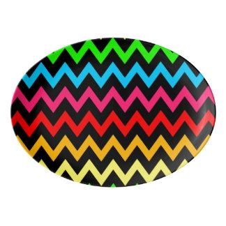 Boys Girls Home Decor Colorful Neon Rainbow Porcelain Serving Platter