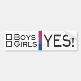 Boys Girls Yes Bisexual LGBT Pride Bumper Sticker