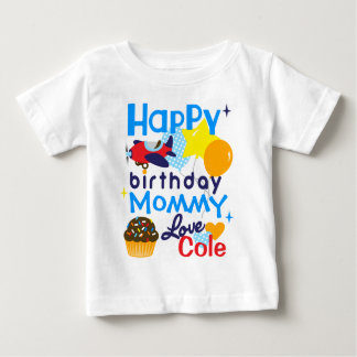 Boys Happy Birthday to Mommy Shirt from Son