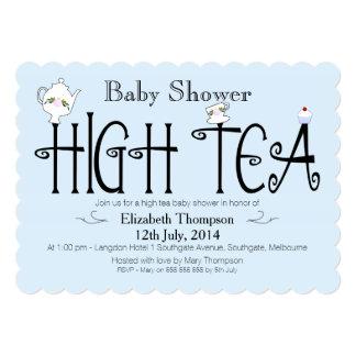 Boys High Tea baby Shower Invitation