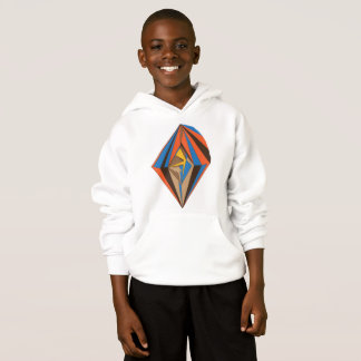 Boy's Hoodie- Abstract Diamond
