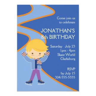 "Boy's Ice Skating Party 5"" X 7"" Invitation Card"