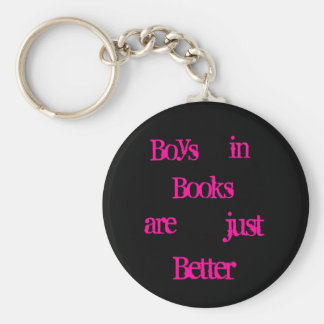 Boys in books keychain