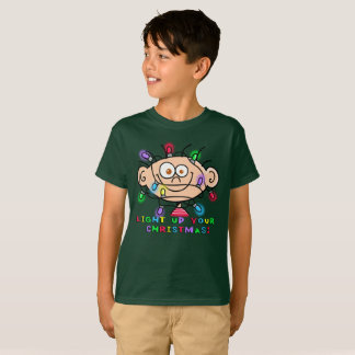 "Boy's Jimmy ""Light Up Your Christmas"" T shirt"