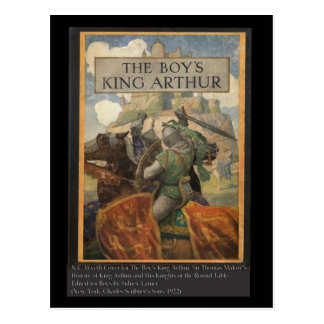 Boys King Arthur Book Cover Post Card