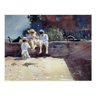 Boys & Kitten by Winslow Homer Postcard
