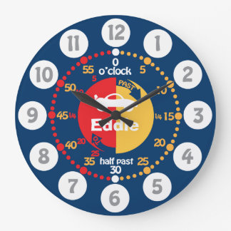 Boys learn to tell time blue red named car clock