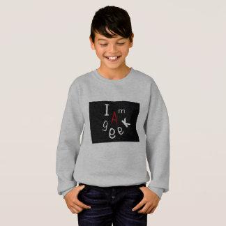 Boys lung sleeves sweater I am a geek