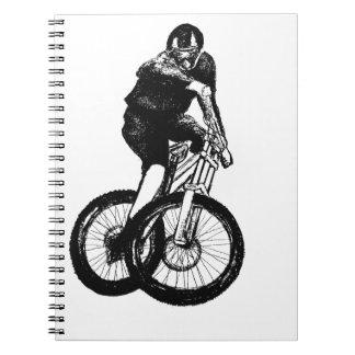 Boys mountain bike T Shirt presents MTB Notebooks