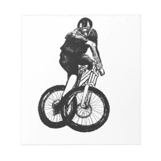 Boys mountain bike T Shirt presents MTB Notepad