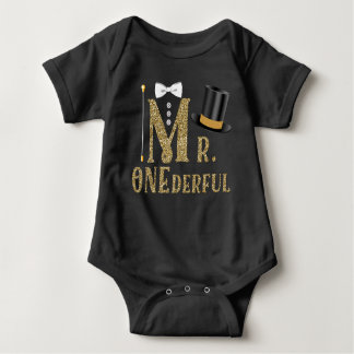 Boys Mr ONEderful 1st Birthday Shirts