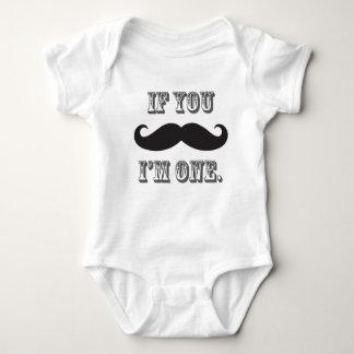 Boy's Mustache Little Man First Birthday Tee