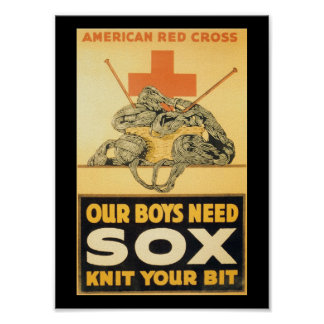 Boys Need Sox World War II Poster