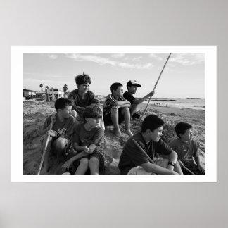 Boys on Ventura Beach Poster